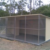 3m x 6m Aviary with  divider, wheelchair access