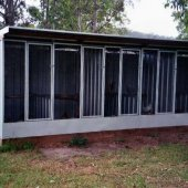 Chook cage with dividers & insulated roof
